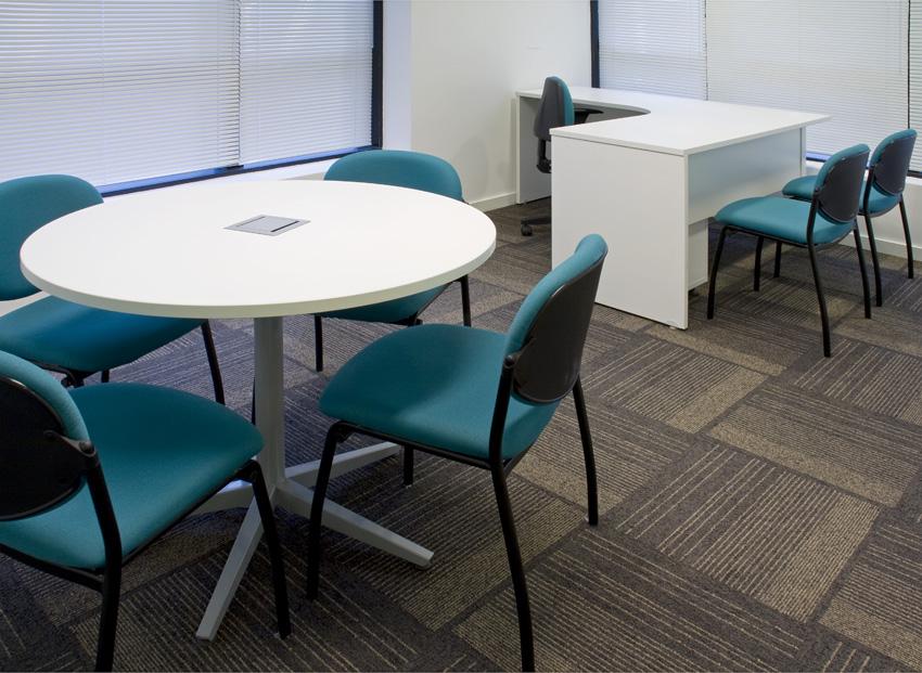 Mesa de Reunião Redonda Conectiva - Mesas Para Reunião - Moveis para Escritorio SP
