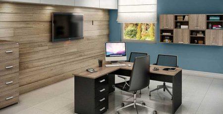 Mesa Home Office em L, Bancada para Home Office