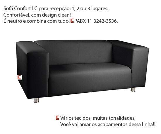 Sofá para Recepção Confort - Móveis para Recepção - Moveis para Escritorio SP