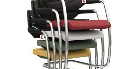 Cadeira Empilhável Pina Estofada, Cadeira Empilhável em SP