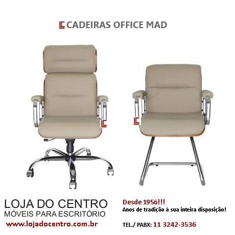 Cadeiras Office Mad - Cadeira Presidente - Moveis para Escritorio SP