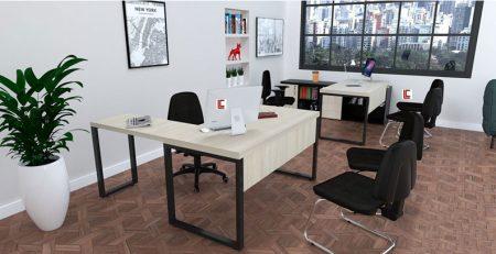 Mesa em L Office Mart SP, Mesa em L para escritório, Mesa em L escritório