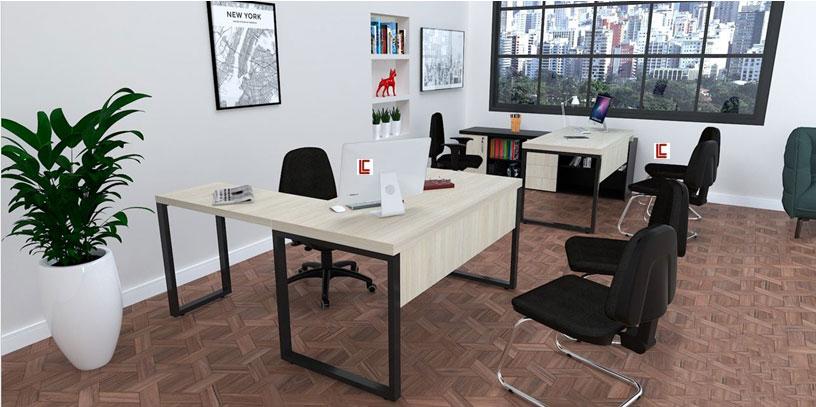 Mesa em L Office Mart - Mesas Básicas - Moveis para Escritorio SP