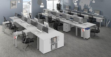 Mesa Plataforma Branca SP, Móveis Office SP, Móveis para escritorio sp