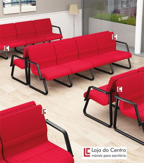 Sofá para Recepção Lounge - Sofás e longarinas - Moveis para Escritorio SP