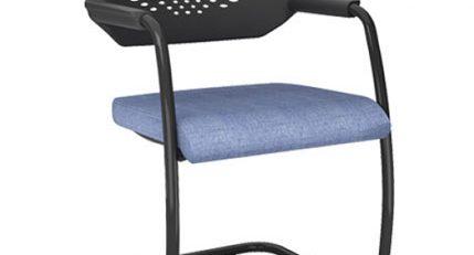 Cadeira Empilhável com Rodízios Estofada, Cadeira Empilhável com Rodízios SP