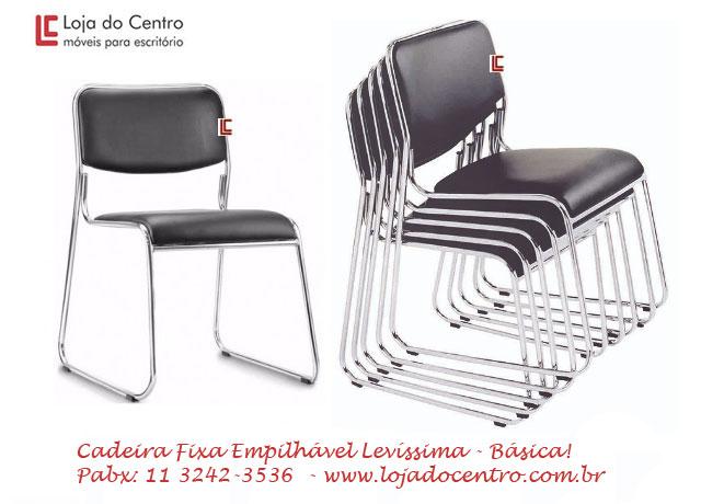 Cadeira Empilhável Levíssima - Cadeira Empilhável - Moveis para Escritorio SP
