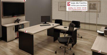 Mesa Diretor em L com mesa auxiliar, Mesa Diretor Escritório, Mesa para Escritório SP