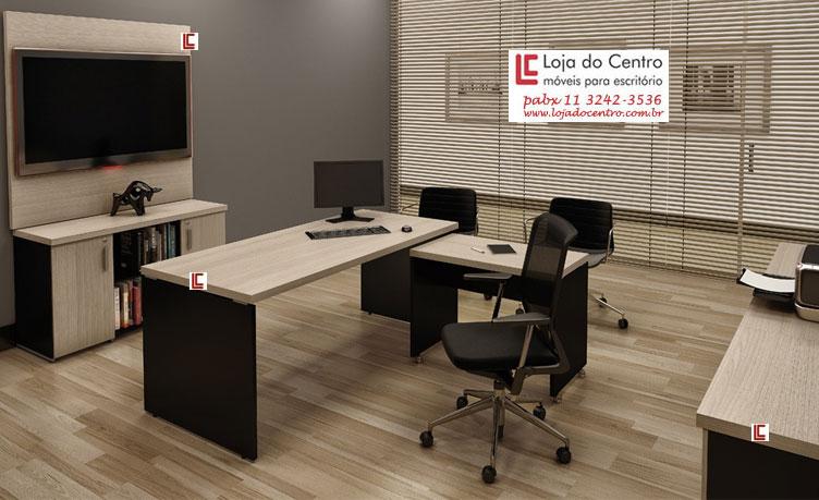 Mesa Diretor em L 40 - Destaque Mesas - Moveis para Escritorio SP