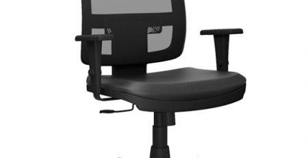 Cadeira Presidente Tela BR em SP, Cadeira Presidente Tela BR Preta SP