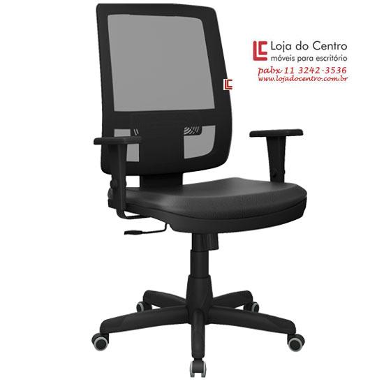 Cadeira Presidente Tela BR Preta - Cadeira Presidente - Moveis para Escritorio SP