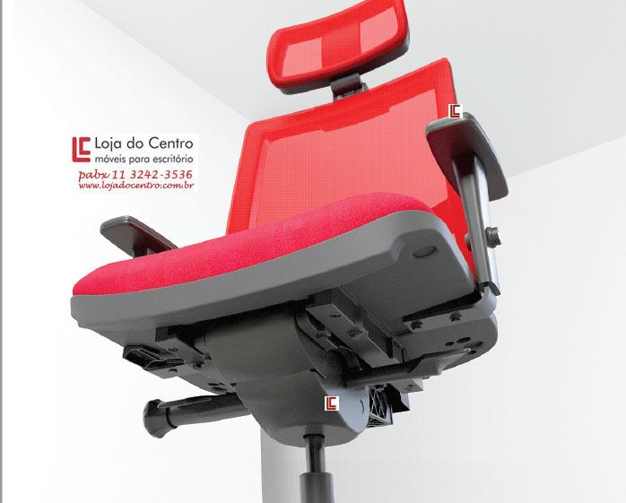 Mecanismo auto-compensador para cadeiras ergonômicas, Mecanismo auto-compensador para cadeira tela