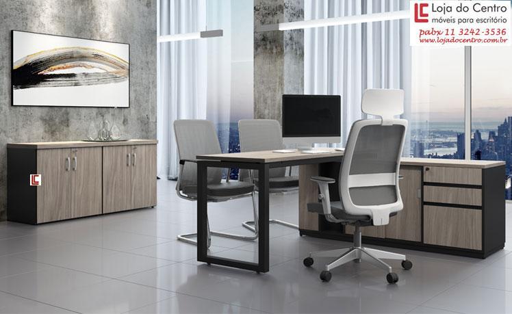 Mesa Diretor Person - Destaque - Moveis para Escritorio SP