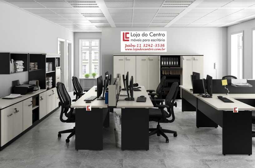 Estação de Trabalho 30 – Oferta - Estação de Trabalho Econômica - Moveis para Escritorio SP