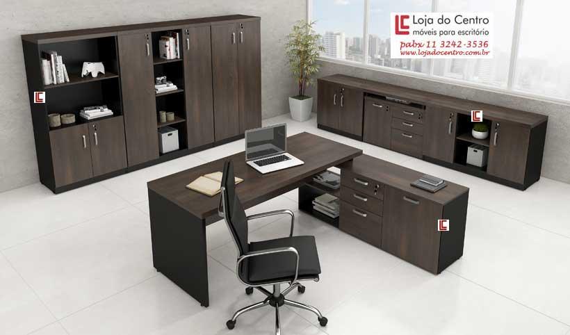 Mesa Office com Armário Lateral - Acessórios para informatica - Moveis para Escritorio SP
