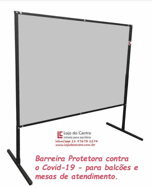 Barreira de Proteção contra o Covid-19 - Acessórios / Complementos Móveis para Recepção - Moveis para Escritorio SP