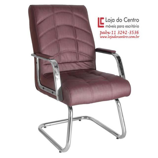 Cadeira Fixa Conforto - Cadeira Fixa Visita - Moveis para Escritorio SP