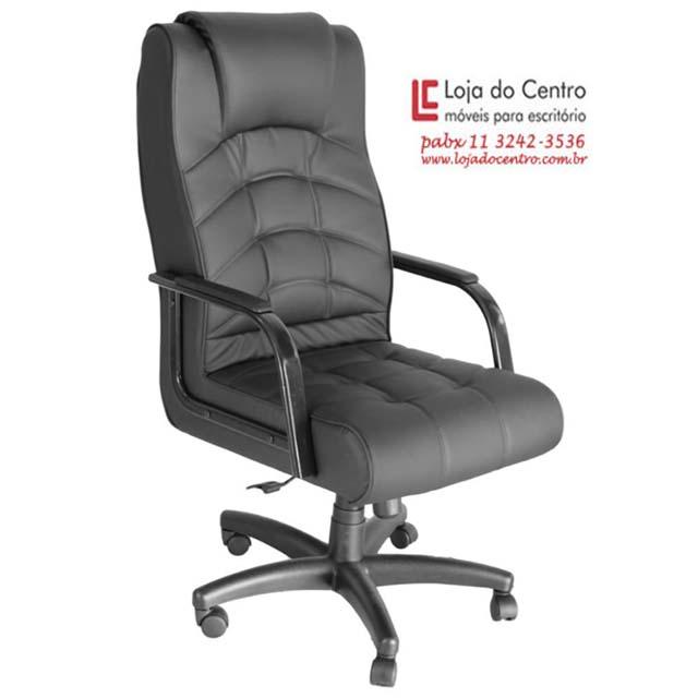 Cadeira Presidente Conforto Preta - Cadeira Presidente - Moveis para Escritorio SP