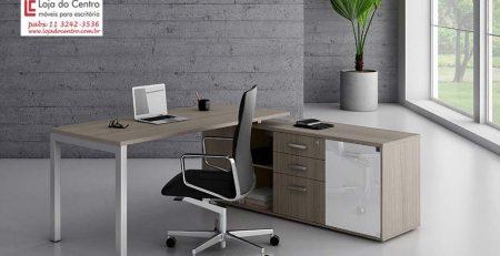 Mesa Diretor SP, Mesa para Escritório com Armário em SP
