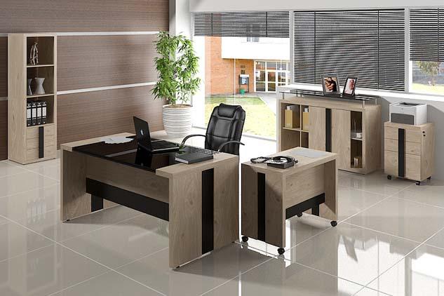 Mesa executiva com tampo de vidro loja do centro m veis - Escritorio para escribir ...