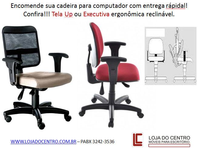 Cadeiras para computador em promoção, cadeiras para escritório em SP